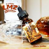 Vente liquide noire de la saveur E de soldat de Lmz meilleure au R-U