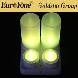 Jogo de 4 cores da vela do diodo emissor de luz de Rechrageable multi com de controle remoto