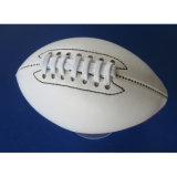 Futebol americano Máquina-Sewn couro do PVC da cor do ouro