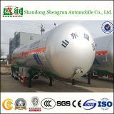 3 as 57.5cbm Op zwaar werk berekende LPG Tanker Trailer van LPG Truck