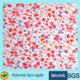 Tela de rayon impressa com teste padrão floral para a roupa de forma das senhoras