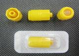 Tampão amarelo da heparina para a cânula do I.V. com Ce e ISO