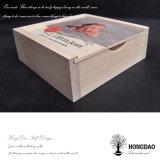 Hongdao klassischer hölzerner Verpackungs-Kasten mit schiebendem Lid_F
