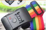 Reisen der ganzer Weltdrucken-Firmenzeichen-Gepäck-Riemen mit Verschluss