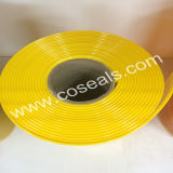Cortina de tira de PVC Amarelo Amber para indústria alimentar