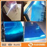 Feuille en aluminium spéculaire de revêtement bleu de film pour des lumières