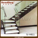 Quilha dobro Prefab L escadaria de vidro dos trilhos da forma com suporte isolador de vidro (SJ-X1107)
