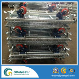 Boîte de rangement en fil galvanisé Fer suspendue pour grande échelle