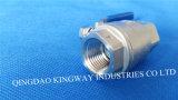 Robinet à bille fileté en acier inoxydable 2-PC (BT-2F, 2000PSI)