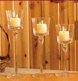 Держатель для свечи формы цветка стеклянный с длиной запружено с свечкой, коробкой стиропора, коробкой цвета упаковывая 20.23.26cm