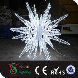 Luzes ao ar livre do motivo da estrela da decoração 3D da rua do Natal