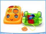 Brinquedos educacionais do carro dos desenhos animados dos brinquedos dos blocos com cabo