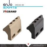 Tacband Keymod 45 Grad OffsetPicatinny Schienen-Taschenlampen-/der zusätzliche Montierungs-taktisches Taschenlampen-(Zoll 3 slot/1.5) Schwarzes
