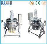 Caldera vestida termoeléctrica de la calefacción de gas del acero inoxidable de la calefacción del gas para el cocinero del alimento