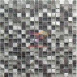 Tuile de mosaïque en aluminium de mélange en verre gris (CFA71)