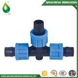 T da fita do encaixe do gotejamento para a irrigação da água do HDPE