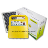 Mini système portatif de panneau solaire avec le chargeur et les ampoules de téléphone mobile
