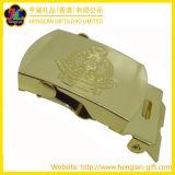 Inarcamento del ferro del metallo placcato oro con il marchio inciso