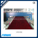 Máquina de revestimento dupla do ajuste do calor de matéria têxtil do sistema de aquecimento