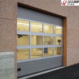 Porta secional desobstruída de alumínio do vidro Tempered de projeto moderno para a loja 4s