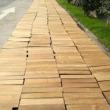 Plancher normal de teck de bois dur en bois solide de qualité