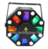 Illuminazione dello stroboscopio della miscela LED dell'indicatore luminoso di effetto del laser dello stroboscopio dello sciame LED