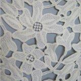 Heiße verkaufende weiße Blume sticken Spitze-Gewebe