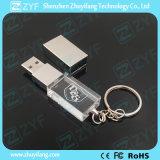 熱い販売の金属Keychain (ZYF1519)の水晶USBの棒