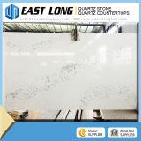 Pedra artificial branca de quartzo do Qu do olhar de mármore branco de Calacatta