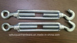 Fornecedor de fábrica Electro Galvanized Malleable Commercial Type Turnbuckle Fastener