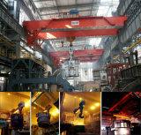 Metal contínuo do feixe dobro que transporta o guindaste da fundição para a fresa de aço