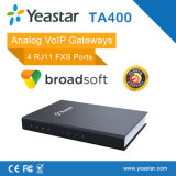 Passagem do SORVO dos portos da passagem 4 FXO de VoIP (NeoGate TA410)