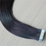 100%の自然なカラーの実質の人間の毛髪テープ毛の拡張