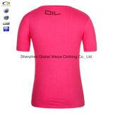 T-shirt de logo du coton 10% Polyester Company de la coutume 90%
