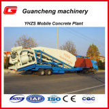 Usine de traitement en lots concrète portative du mobile Yhzs25 de la Chine en vente