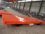 Industrieller motorisierter Übergangsflacher Wagen