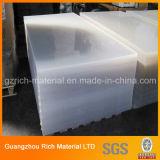 folha acrílica plástica molde desobstruído/transparente de 5mm com película do PE/papel de embalagem