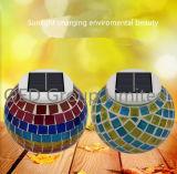 Vaso solare impermeabile di Sun di vetro di mosaico per il vaso solare chiaro variopinto di Sun della decorazione di illuminazione esterna del giardino della lampada