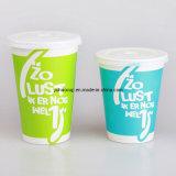 12oz de dubbele PE Met een laag bedekte Koude Kop van het Document van de Drank/van de Milkshake met Aangepaste yhc-016) Gediplomeerd FDA van het Embleem van de Druk (