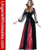 호화로운 여자의 흡혈귀 Cosplay 복장의 Halloween 당 공상 여왕