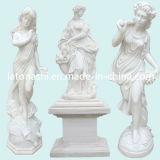 Mano Carved White Marble Figure Statue Sculpture per il giardino