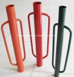 Programa piloto del poste del triturador del poste de la cerca de la mano del metal de la fábrica