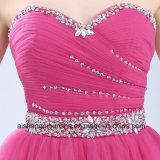 Amoureuse A - ligne mini robe de femmes de bal d'étudiants de Tulle de cocktail de pli
