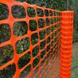 Engranzamento alaranjado macio 1m x 50m da cerca da barricada da segurança