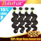 estensioni naturali brasiliane Lbh 069 dei capelli umani del Virgin del tessuto 100% dell'onda del corpo 7A