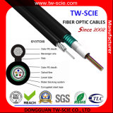 2/4/6/8/12/16/24 câble aérien de fibre de l'armure UIT-T du noyau Fig8 de noyau (GYXTC8S)