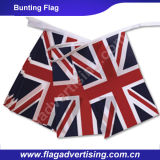 Dekorative 100% Polyester Vollfarbdruck Bunting Flagge mit String