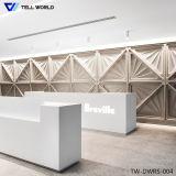 самомоднейший стол приема конструкции офиса изогнутый Corian