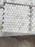 Mosaicos al por mayor de Calacatta del hexágono del mármol del oro de Italia Calacatta