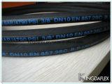 Mangueira de borracha hidráulica industrial reforçada de alta pressão flexível En853 1sc do petróleo do fio de aço